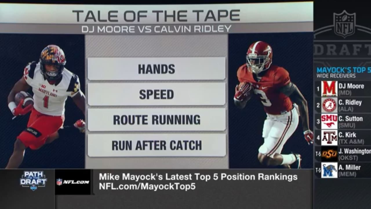 Tale Of The Tape D J Moore Vs Calvin Ridley
