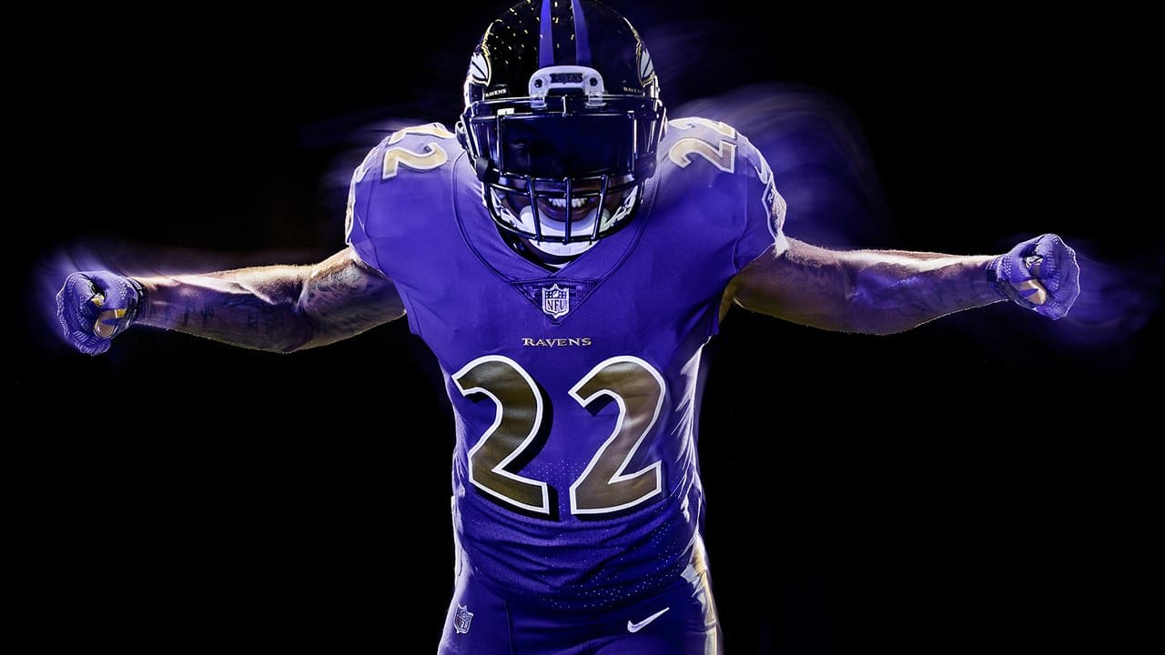Jimmy Smith Models Ravens Color Rush Uniform