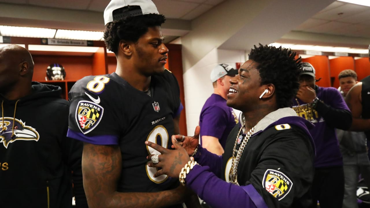 huge selection of 13ef9 3eda8 Ravens, Lamar Jackson Celebrate With Rapper Kodak Black