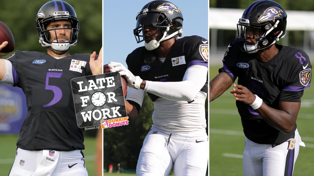 Late for Work 8 1  Ravens Mum on Quarterback Rotation for Preseason Opener 662bdf910