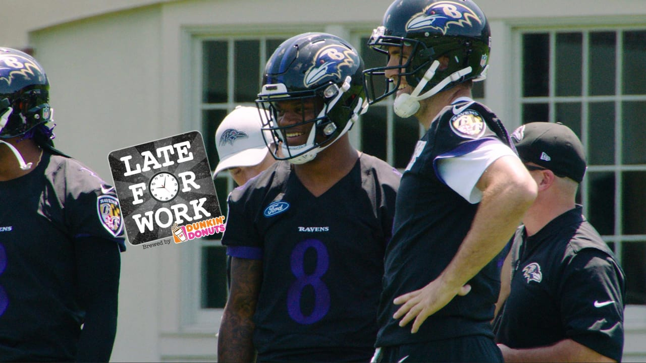 Late for Work 5/22: Joe Flacco and Lamar Jackson Are All Smiles ...