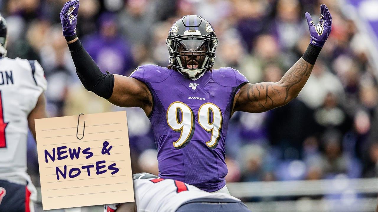 News & Notes: Multiple Factors Putting Bite Into Ravens' Pass Rush - BaltimoreRavens.com