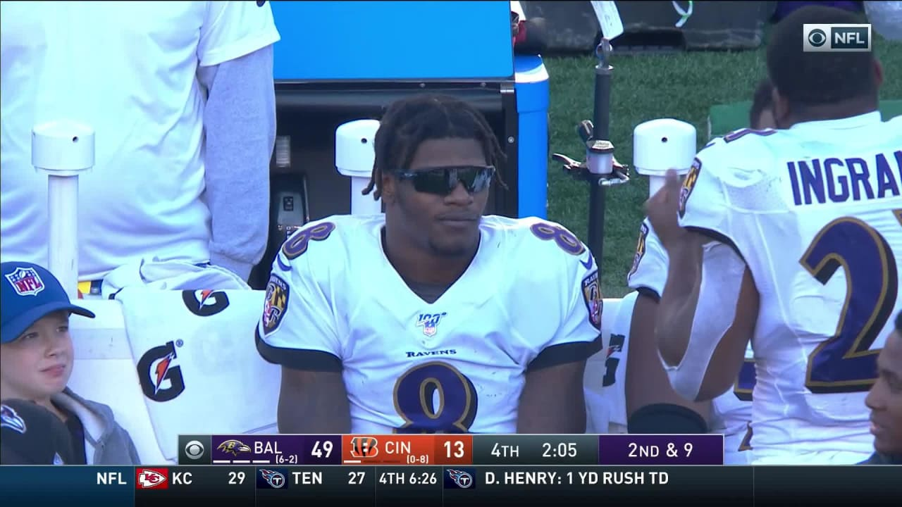 Lamar Jackson Dons Cool Shades After Perfect Day