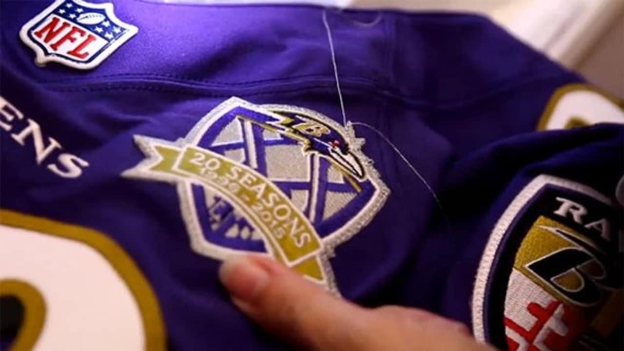Ravens Unveil 20th Season Jersey Patch