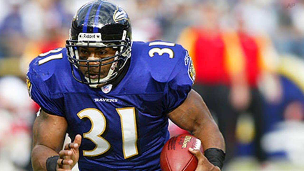 Jamal Lewis Crystallized Ravens' Bruising Image