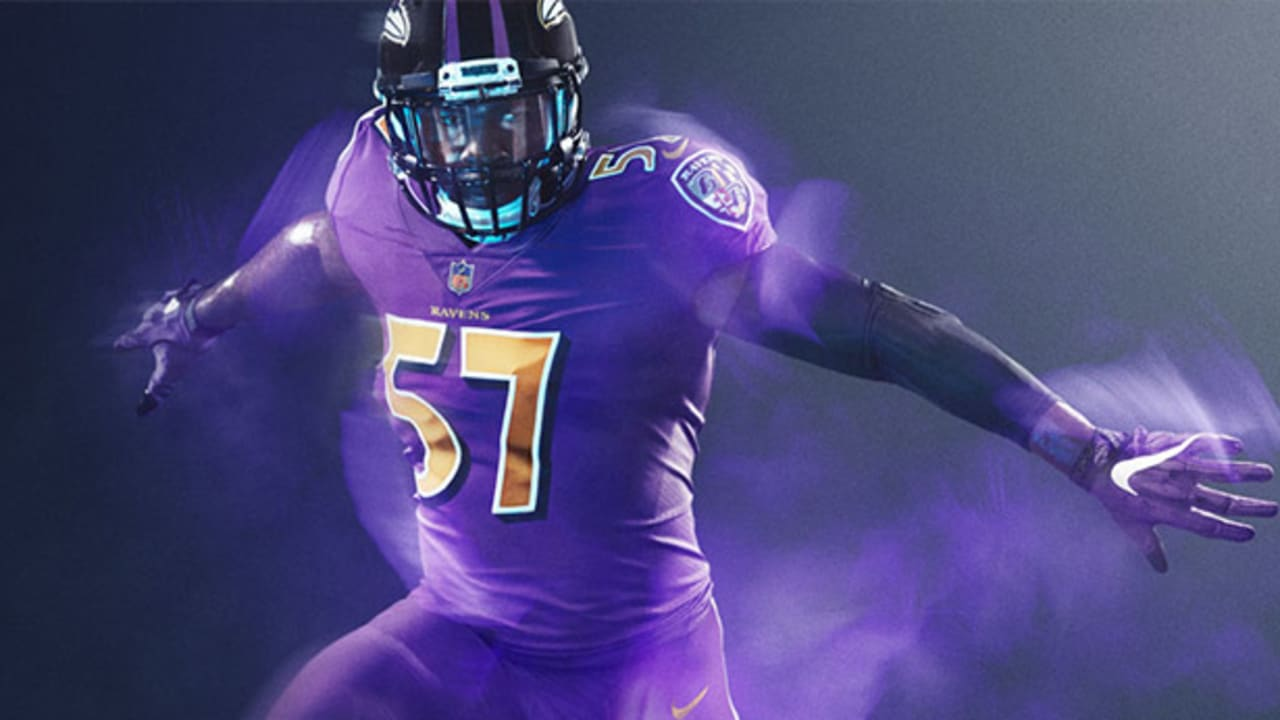 new product 99538 bac56 Ravens To Go With All-Purple Uniforms For Color Rush Game