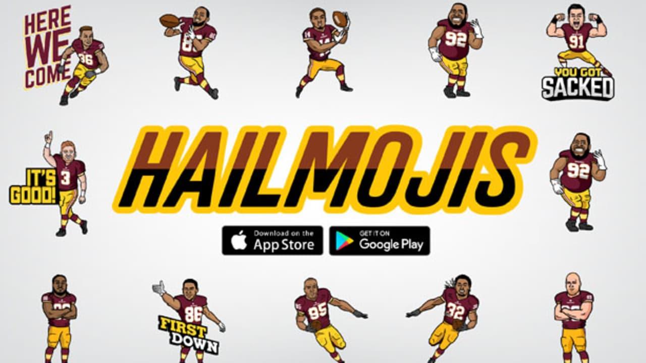 Make Sure To Download Hailmojis On The Redskins Mobile App