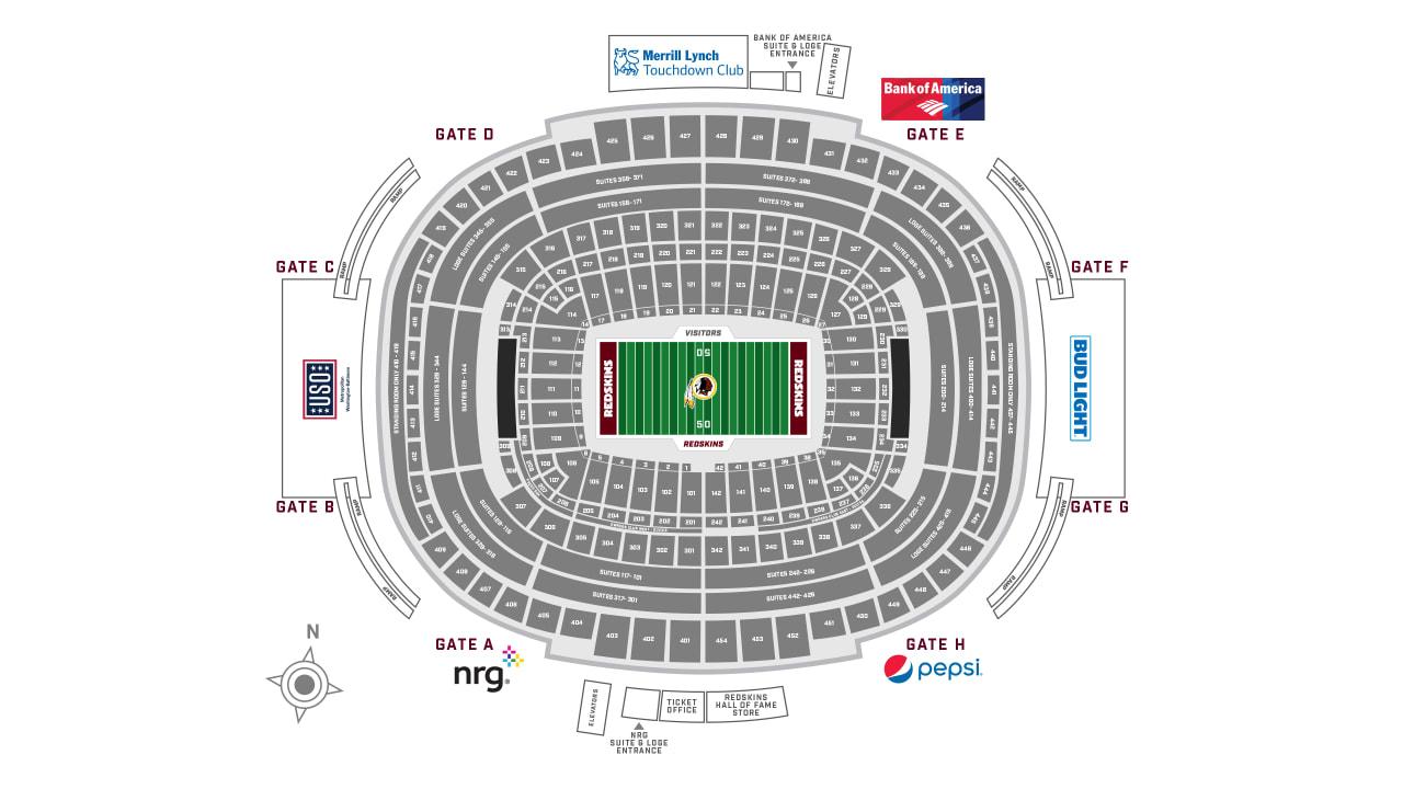 FedExField Stadium Guide | Washington Redskins - Redskins com