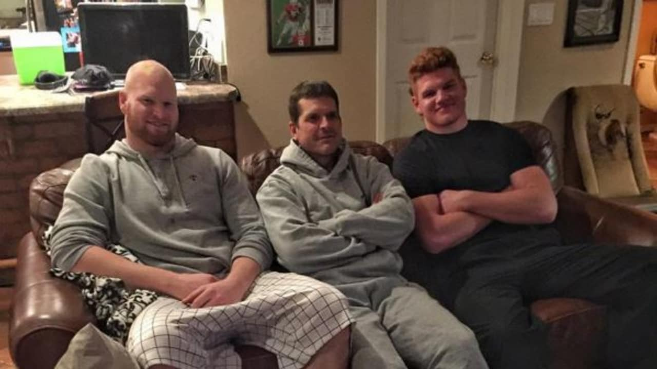 Image result for jim harbaugh sleepover
