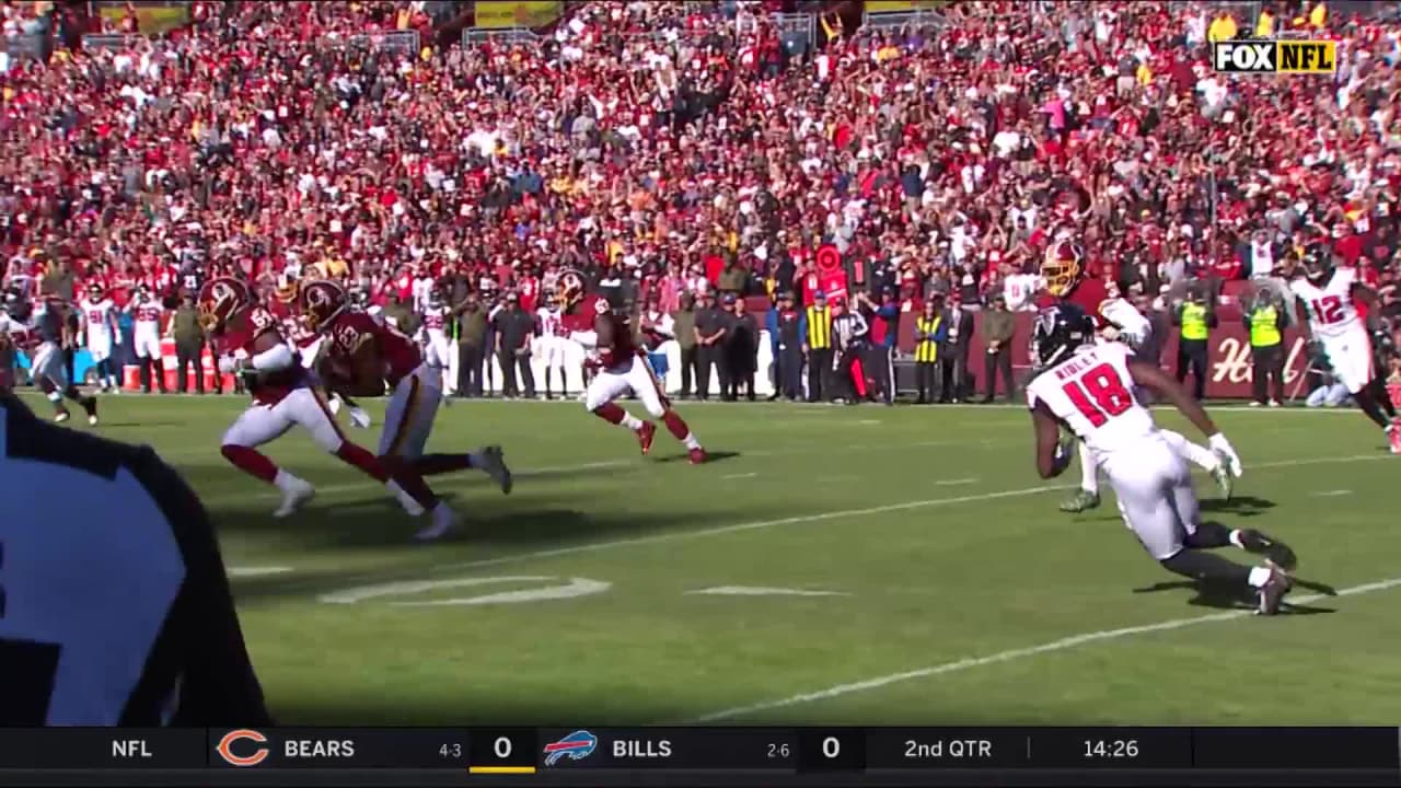 3aa52572 Redskins Cornerback Quinton Dunbar Intercept Atlanta Falcons ...