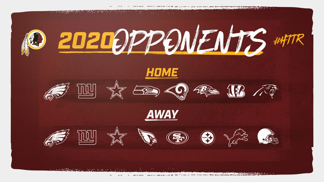 It's just a graphic of Witty Redskins Schedule 2020 Printable
