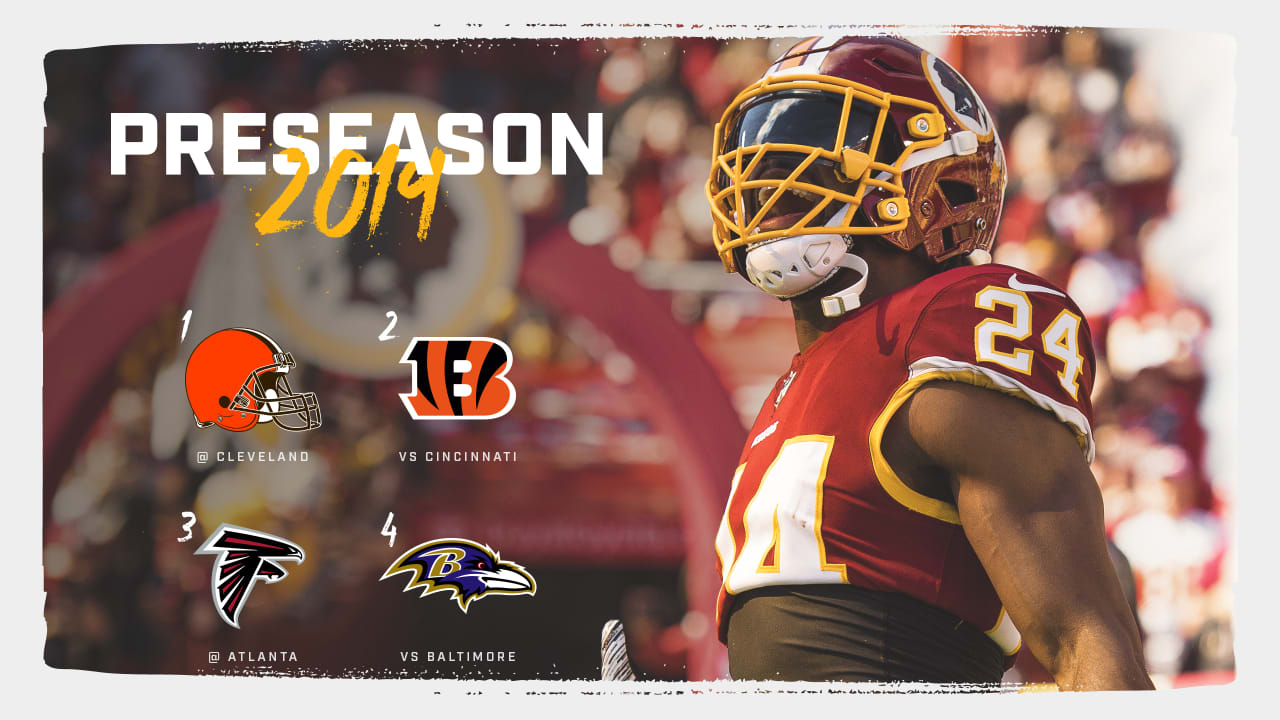 photo about Cleveland Browns Printable Schedule named Redskins Announce 2019 Preseason Timetable
