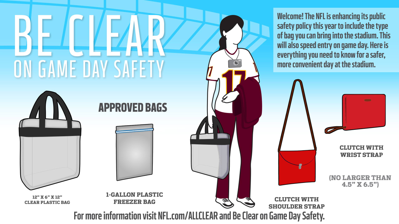 Clear Bag Policy at FedExField | Washington Redskins - Redskins com