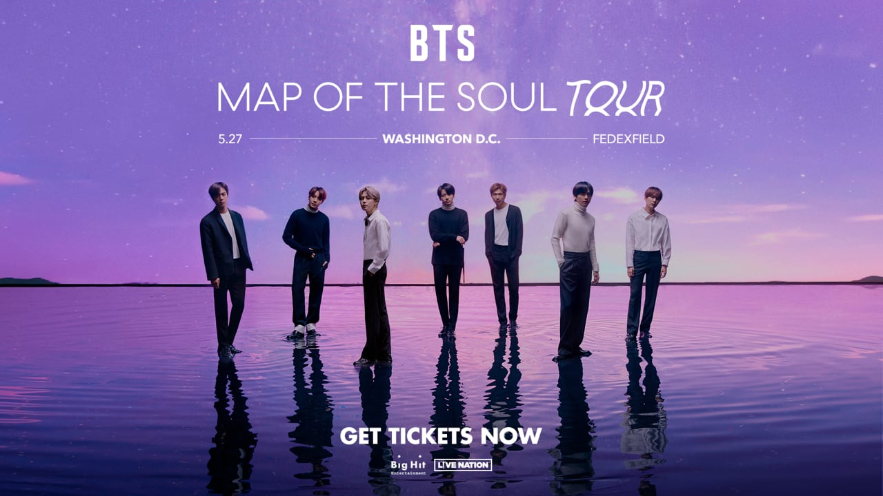 Bts To Perform At Fedexfield As Part Of Map Of The Soul Tour