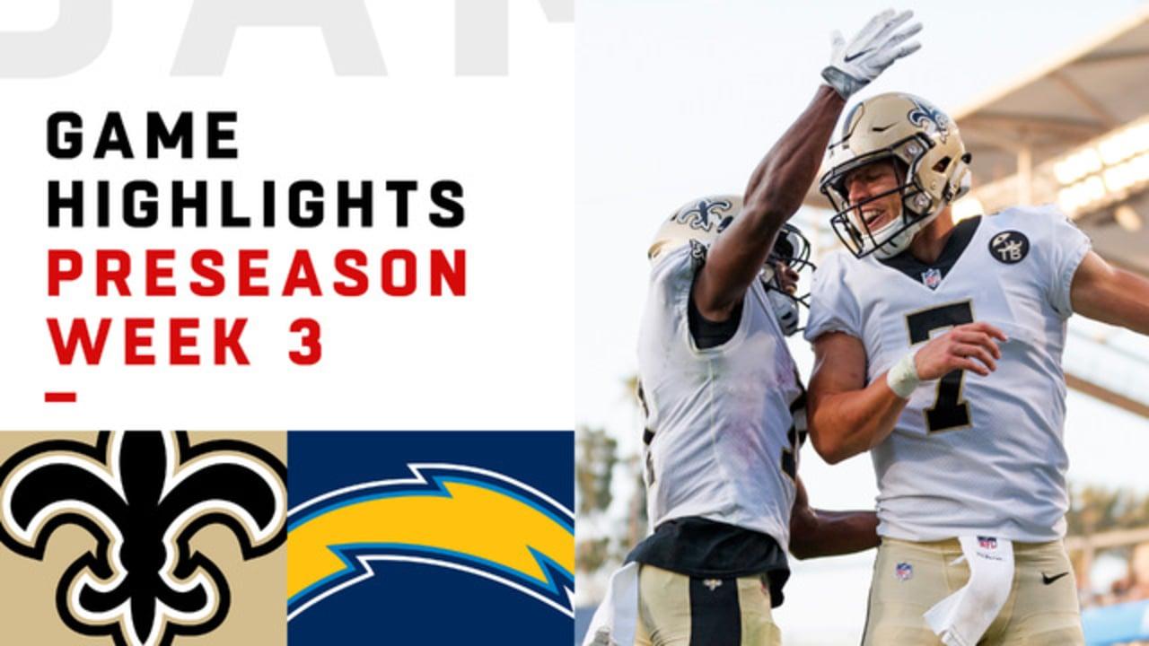 Saints Vs Chargers Highlights Preseason Week 3