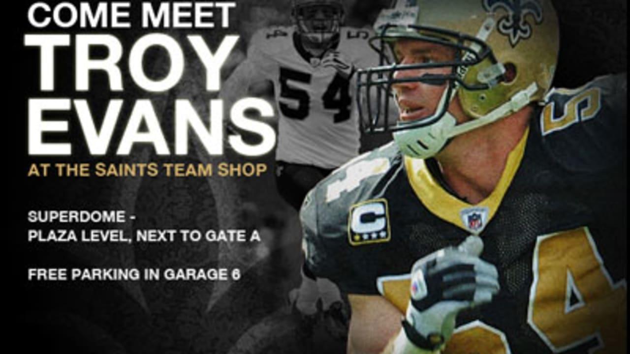 cheap for discount 6840c adda5 Meet LB Troy Evans at the Saints Team Shop!