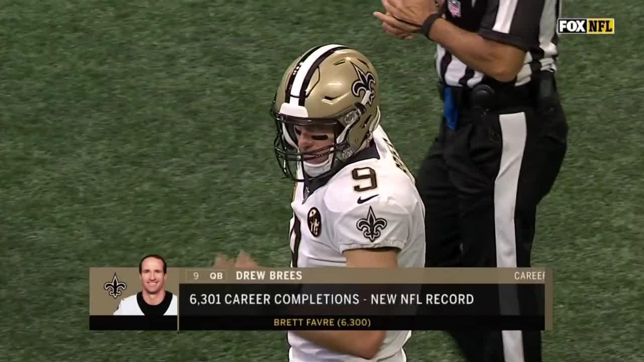 Drew Brees breaks Brett Favre s NFL completion record 42914c764