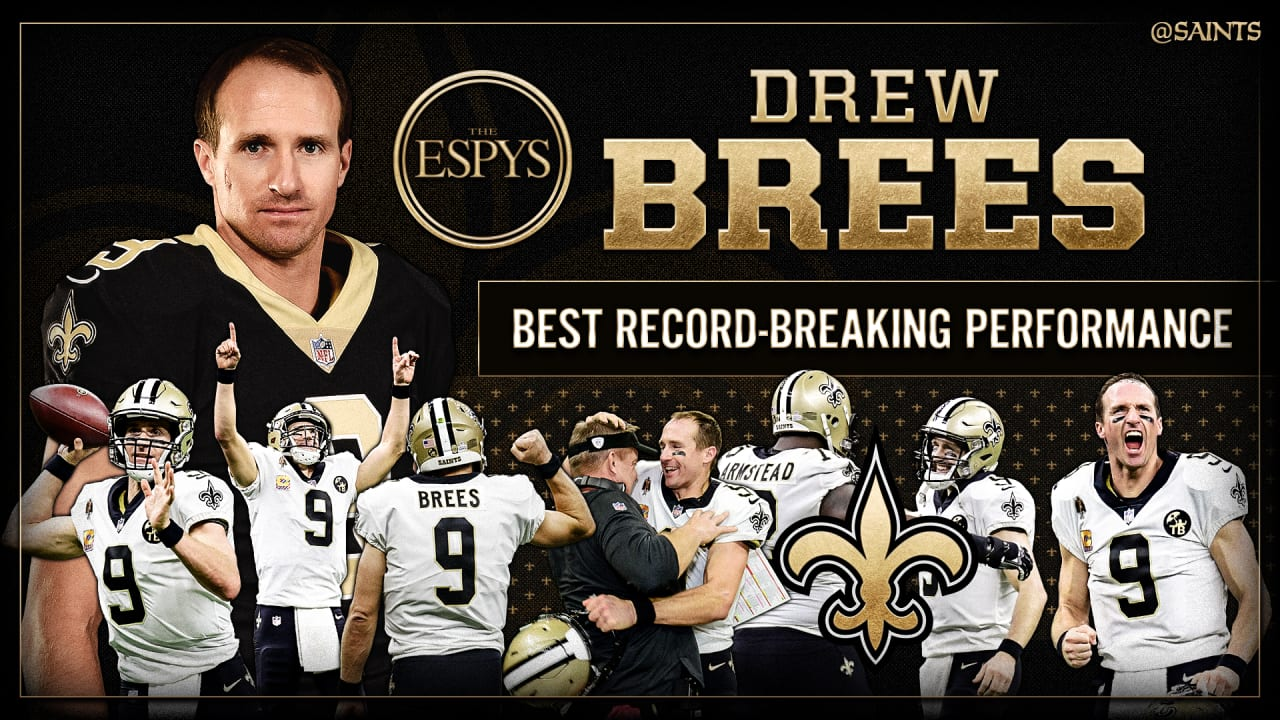 Drew Brees Wins Espy For Best Record Breaking Performance