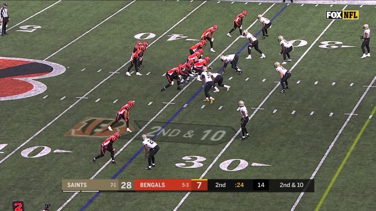 07f9bfc5ae All Interceptions from New Orleans Saints vs. Cincinnati Bengals
