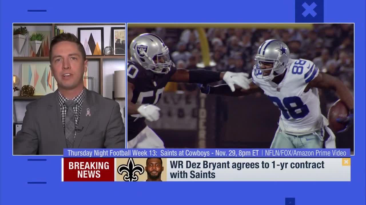 Tom Pelissero  WR Dez Bryant could see favorable coverages next to New  Orleans Saints WR Michael Thomas 99773352c