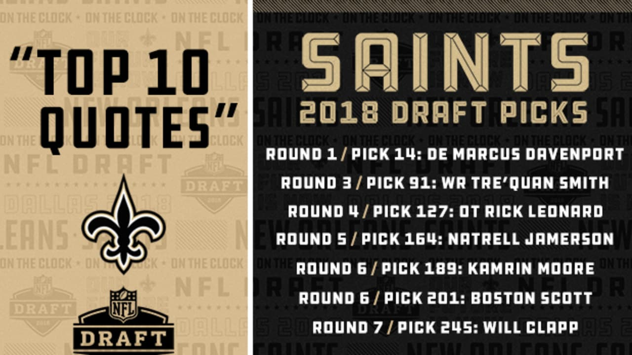 Top 10 New Orleans Saints draft quotes
