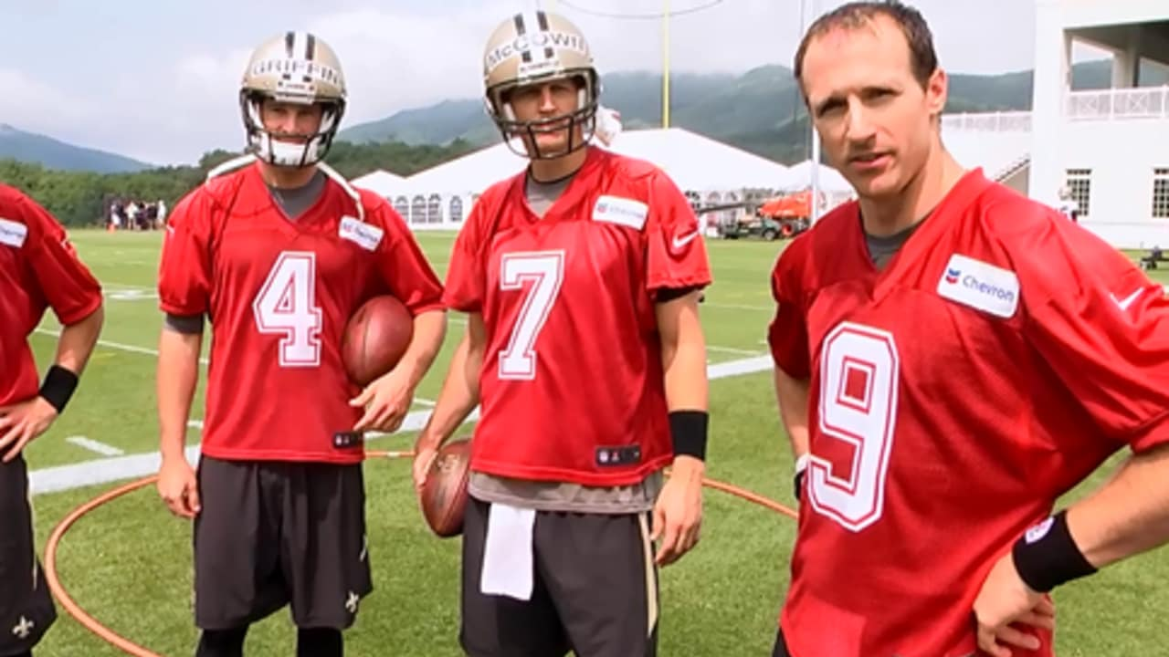 Saints quarterback challenge from Day 1 of camp