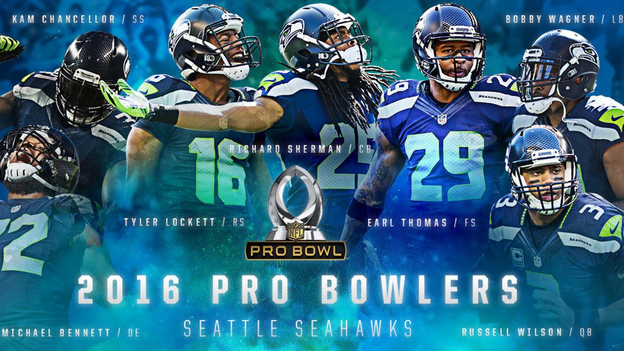 buy online 2cbba bb529 Seven Seahawks Earn 2016 Pro Bowl Honors