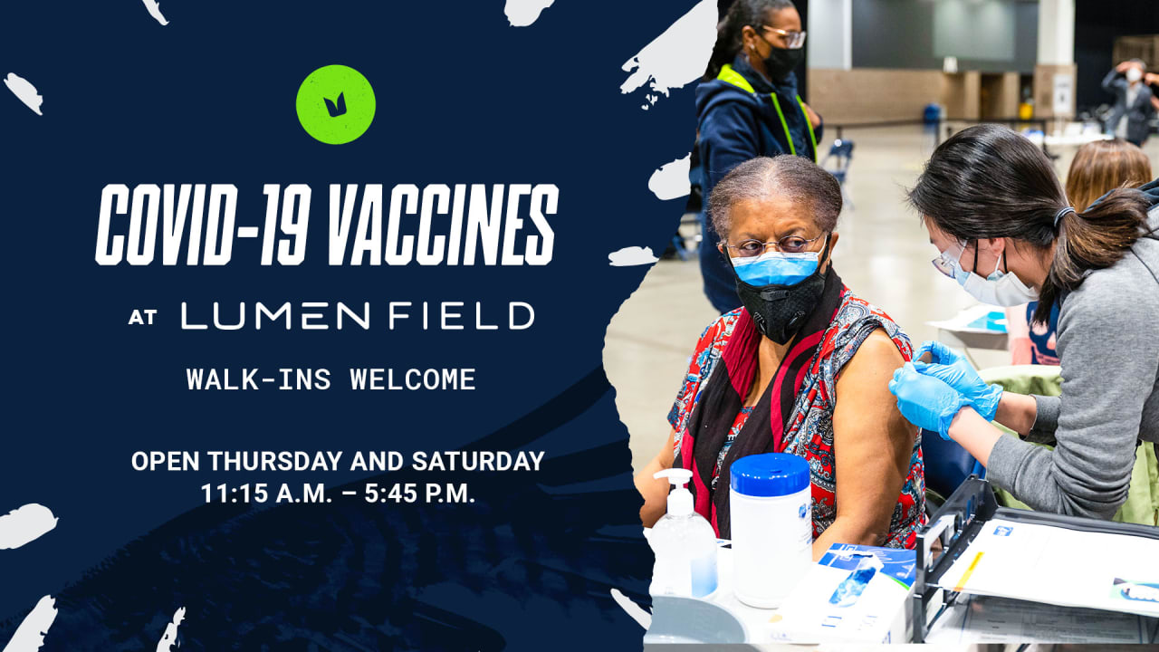 Lumen Field Vaccination Site Now Accepting Walk Up Patients