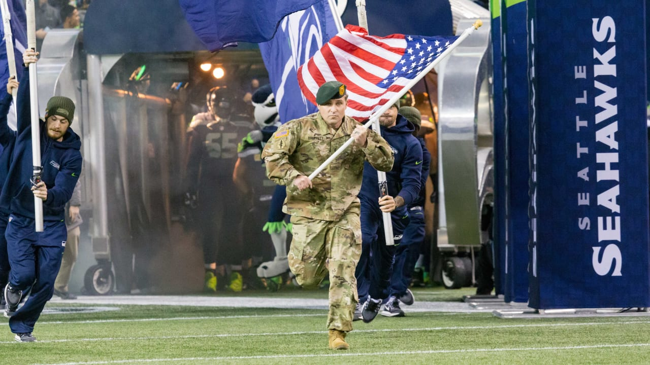 """25bc49bff89 Seahawks Announce """"Salute To Service"""" Gameday Activities For November 15"""