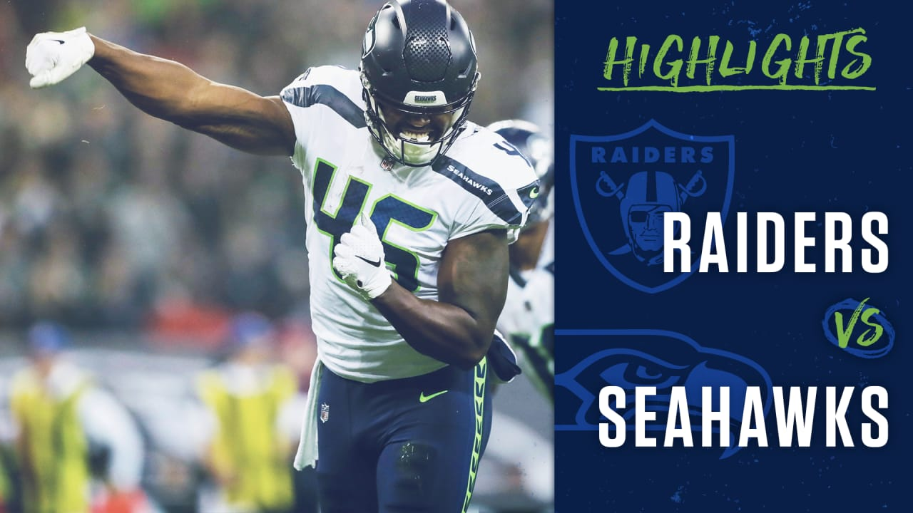 best authentic f704e b0315 2018 Week 6: Seahawks at Raiders Highlights