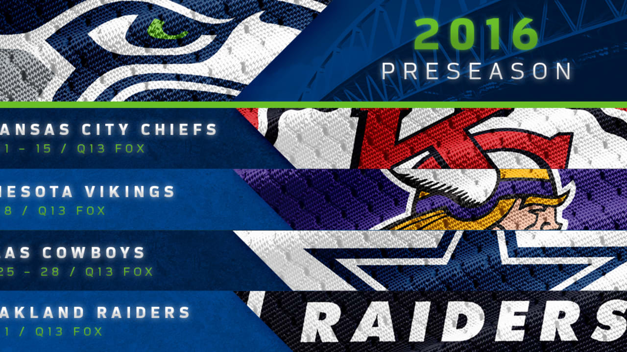 Seattle Seahawks 2016 Preseason Schedule