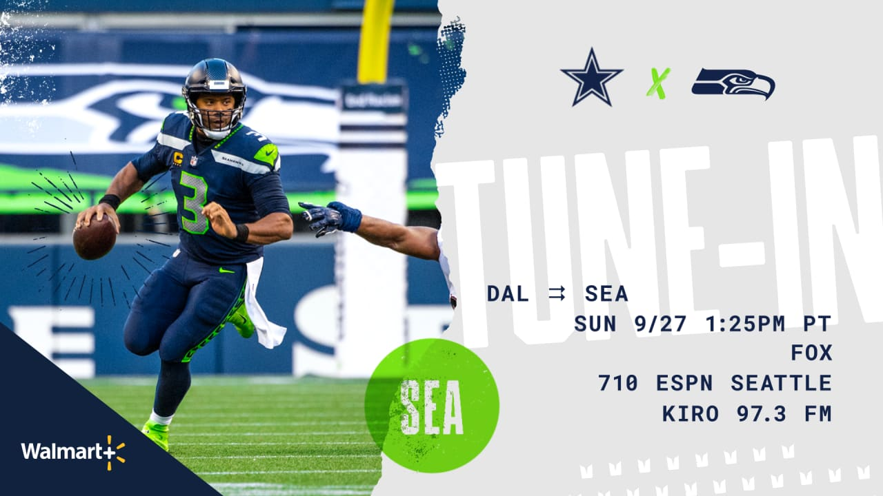 Seattle Seahawks vs. Dallas Cowboys: How to Watch, Listen and Live Stream  on September 27
