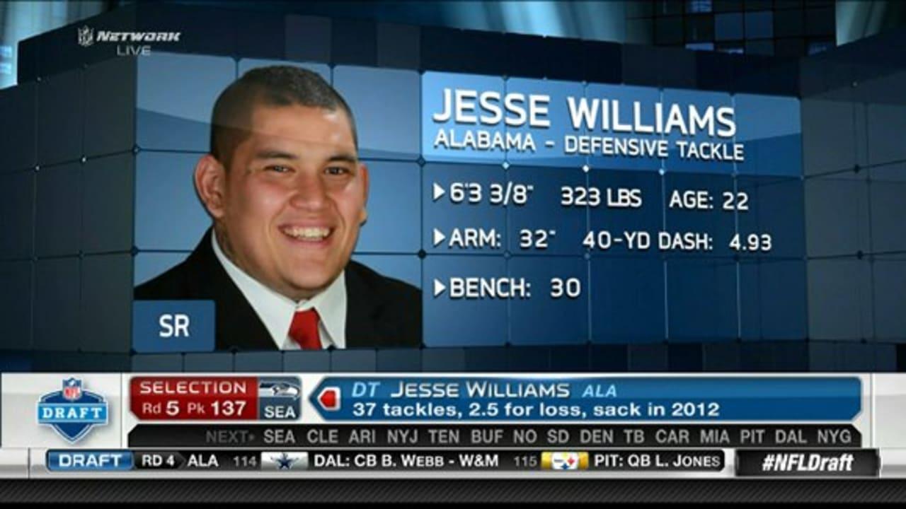 Seattle Seahawks Draft Dt Jesse Williams No 137 In 2013 Nfl