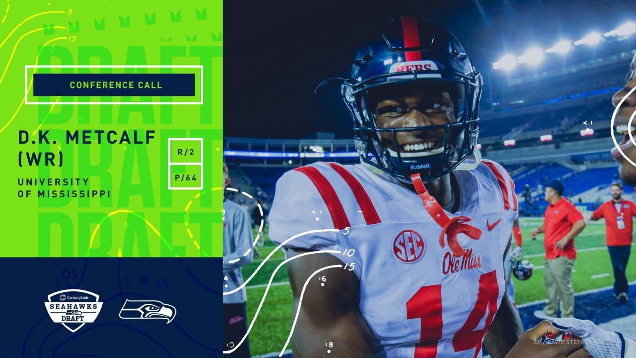low priced 7192d 41de9 2019 NFL Draft Conference Call: D.K. Metcalf