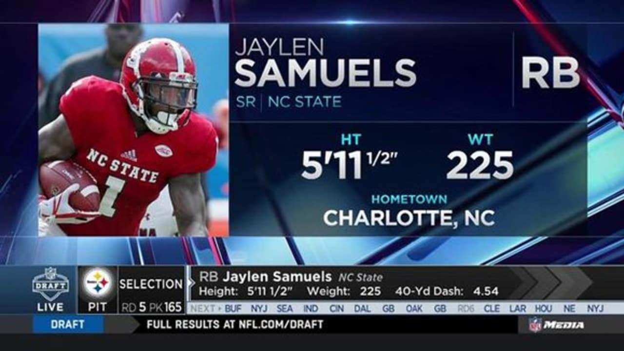 ab5f461ff Steelers make the selection of Samuels in the 5th round