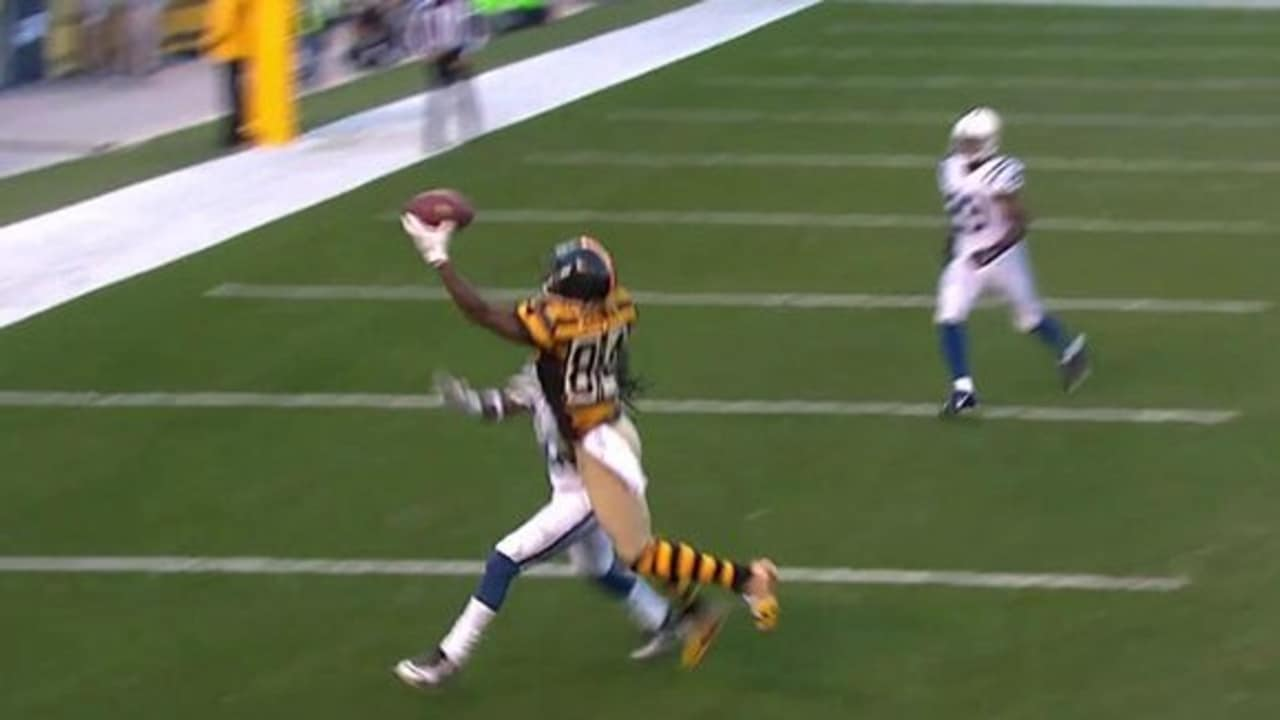 Colts Vs Steelers Antonio Brown  Yd Td Catch