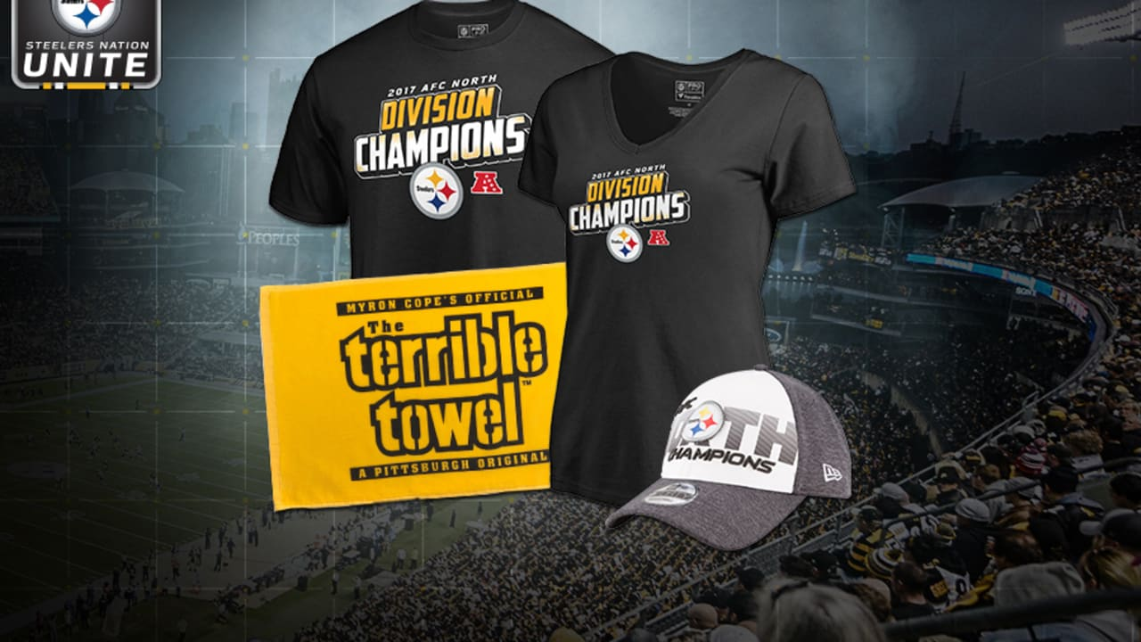 huge selection of c0fe0 5cbbc Enter to win AFC North Division Champs gear