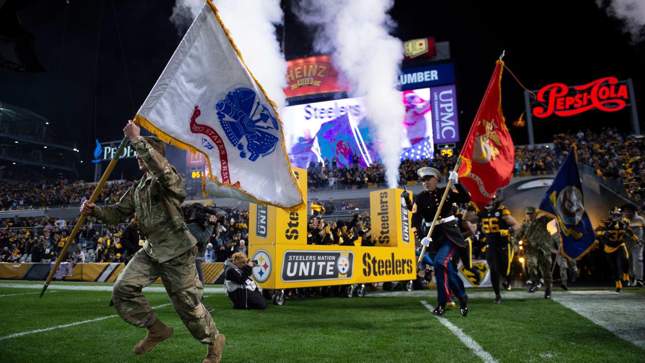 Steelers donate $75,000 during Veterans Day activities