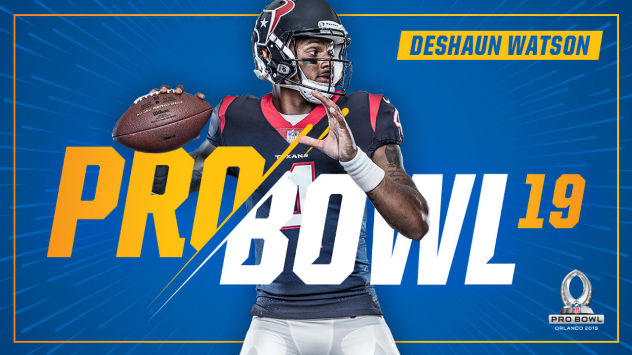 best website 2396f cecaf QB Deshaun Watson named to 2019 Pro Bowl