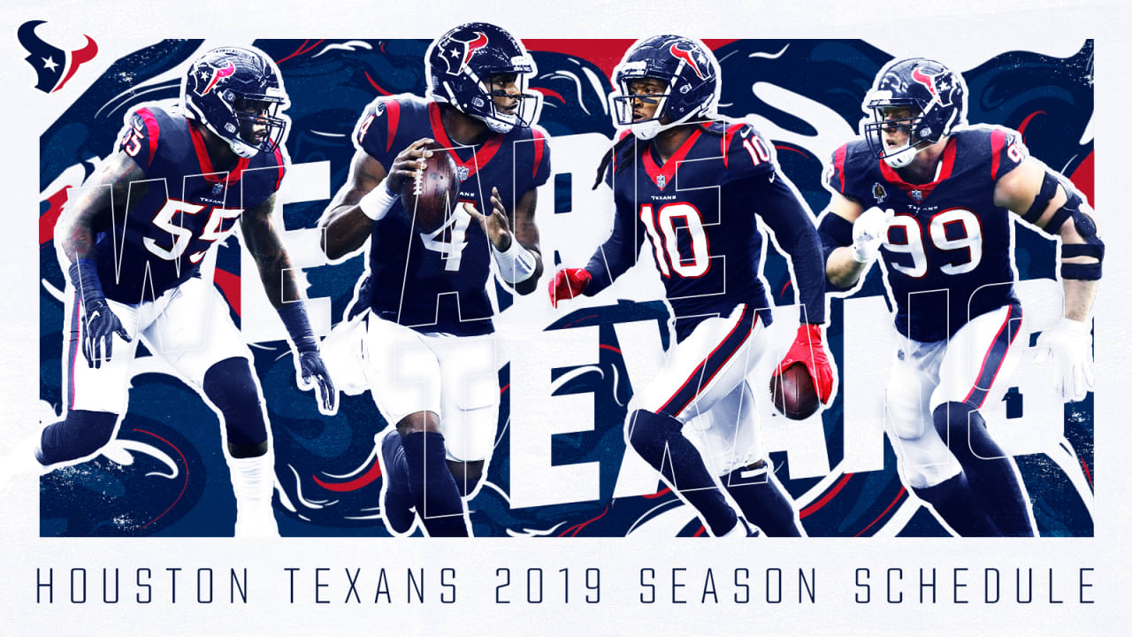 Texans Football Schedule 2020 Texans announce 2019 schedule