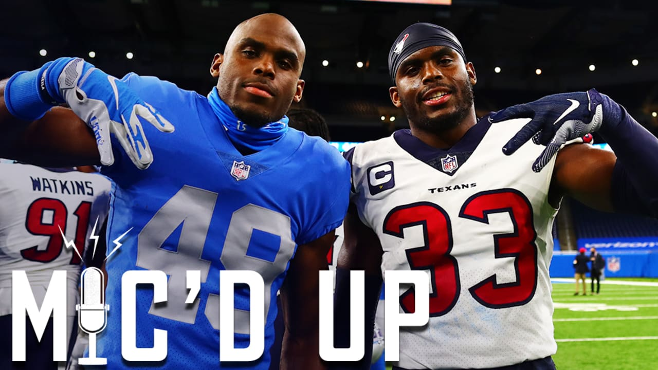 Twin Brothers go head-to-head Mic'd Up for Texans vs. Lions on ...