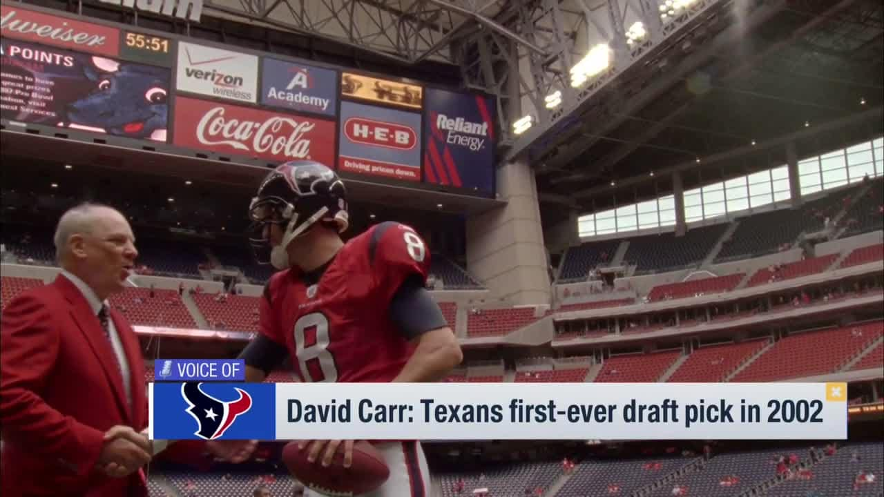 cc9e24b8 Texans first-ever draft pick David Carr honors Robert C. McNair