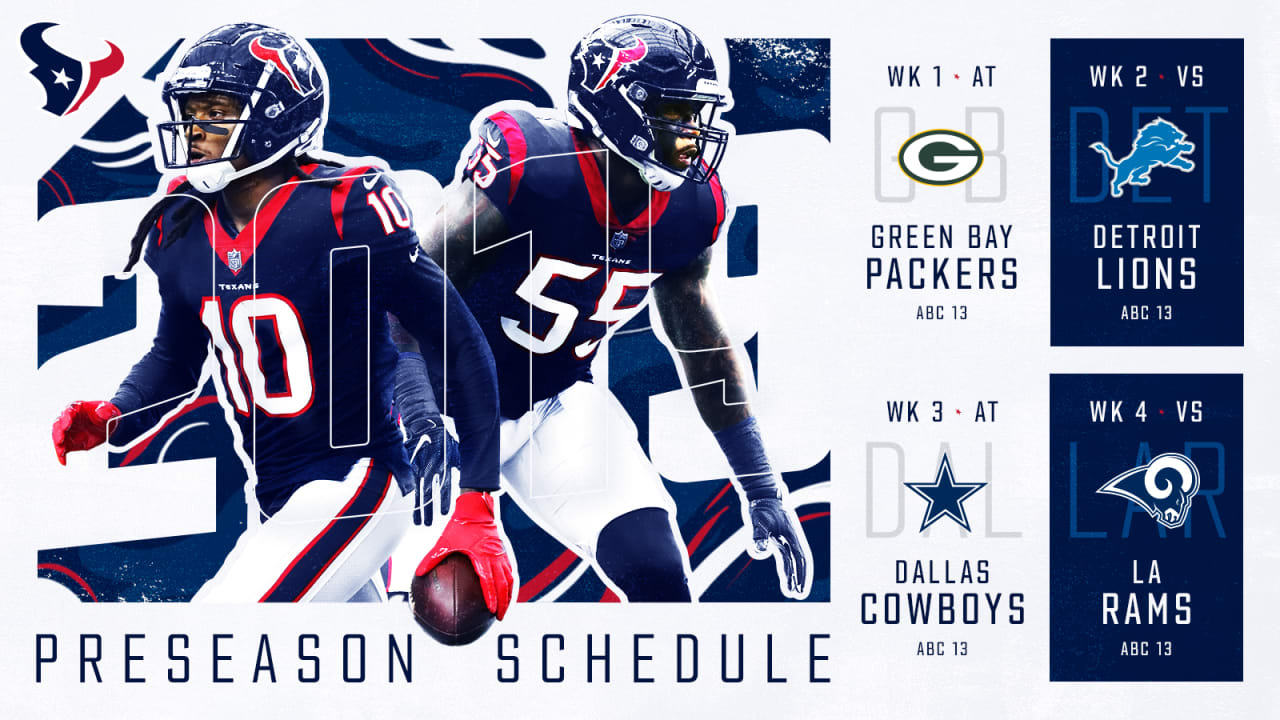6e0fdef6 Texans announce 2019 preseason opponents