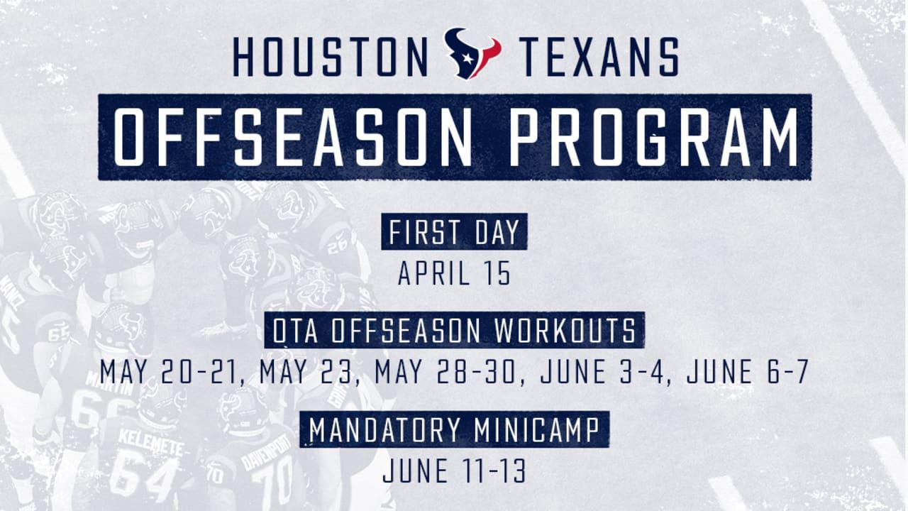 Texans offseason dates announced