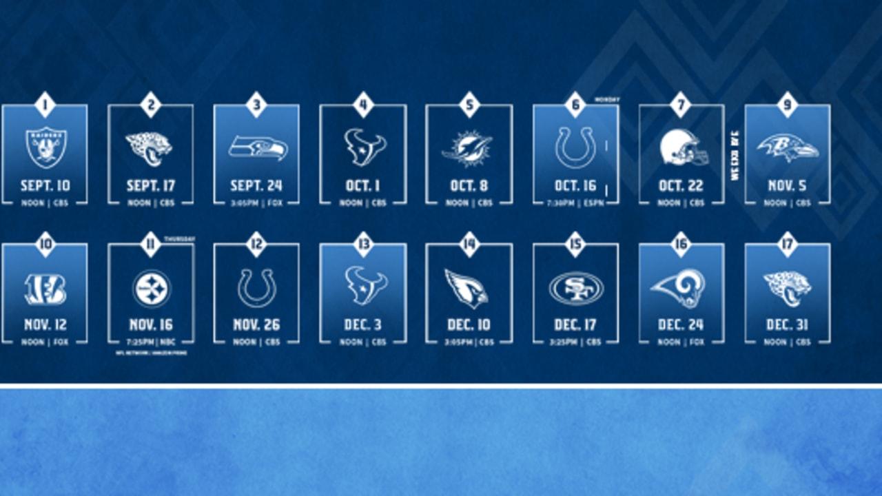 3290a8ba Titans 2017 Regular Season Schedule Announced