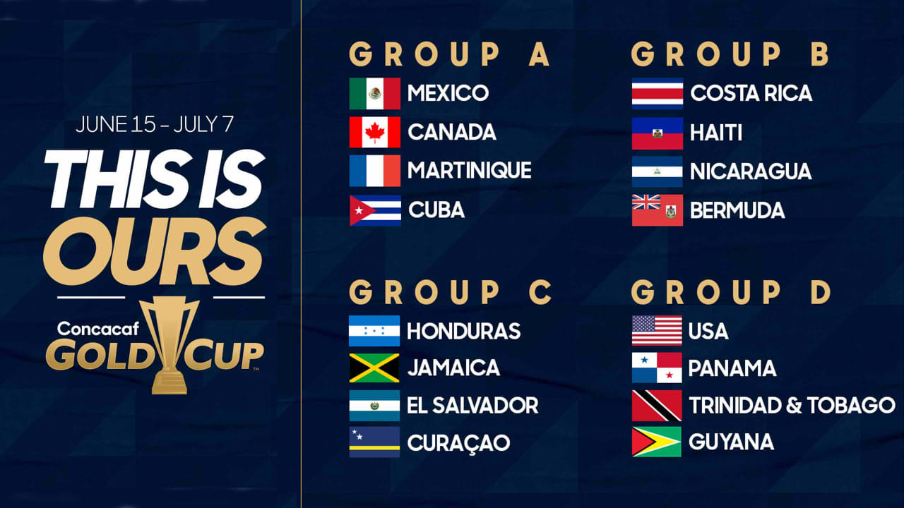 Calendrier Fifa 2019.Groups Schedule For 2019 Concacaf Gold Cup Announced