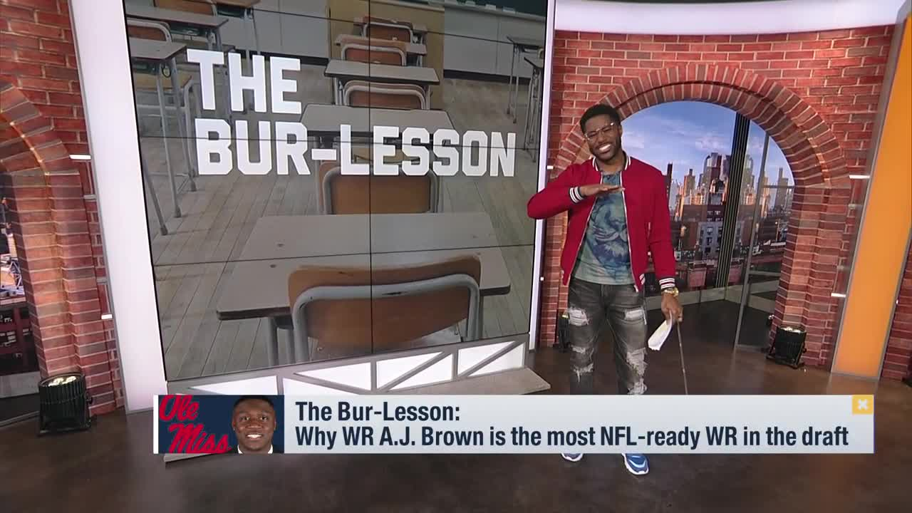 reputable site 9202b 08507 Nate Burleson Explains Why Ole Miss WR A.J. Brown is the ...