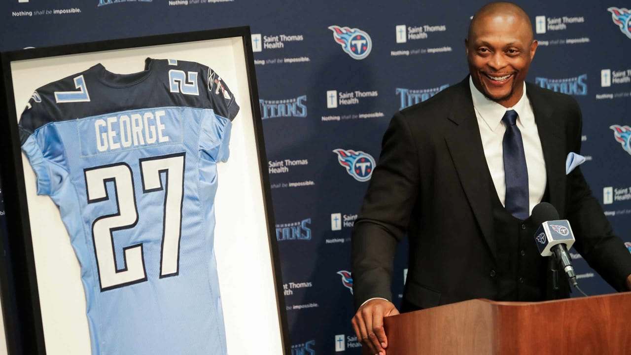new arrival 7c595 f6614 Eddie George: Jersey Retirement Special Because It's With ...