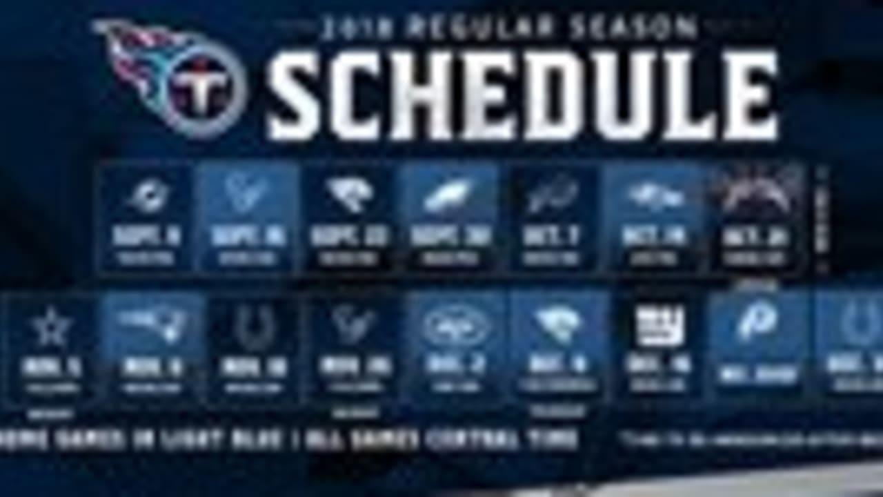 3cb20341 Titans 2018 Schedule Includes Three Primetime Contests