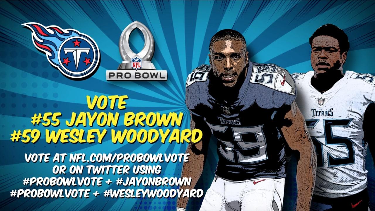 best service d496f 8f0fa Help Vote Linebackers Wesley Woodyard, Jayon Brown to 2019 ...